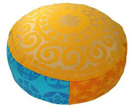 """""""Mandala sonne-pink-türkis"""" Designer Meditationskissen Yogakissen Gr.S"""