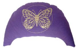 """Designer Halbmond Meditationskissen """"Butterfly"""" lila"""