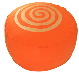 """Spirale "" orange Designer Meditationskissen Gr.M"