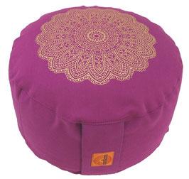 """""""Madras Blüte """" rotviolett Designer Meditationskissen Gr.M"""