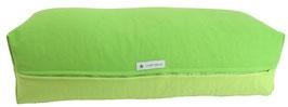 Yoga Bolster eckig apfelgrün + hellgrün