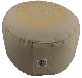 """Ur-Mandala Variation beige"" Designer Meditationskissen Gr.M"