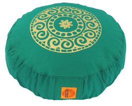 """Designer Meditationskissen Gr.S """"Mandala"""" seegrün"""