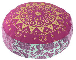 """Etenia-Ur-Mandala rotviolett"" Designer Meditationskissen Yogakissen Gr.S"