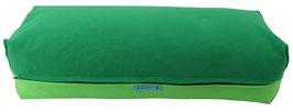 Yoga Bolster eckig grasgrün + giftgrün
