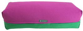 Yoga Bolster eckig  rotviolett + grasgrün