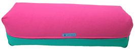 Yoga Bolster eckig pink + seegrün