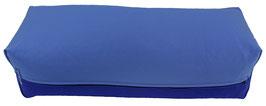 Yoga Bolster eckig  jeansblau + tinte