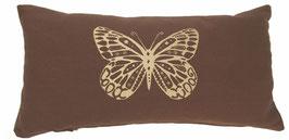 """""""Butterfly"""" braun Designer Yoga-Universal-Genie Kissen"""