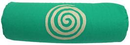 """Grasgrün """"Spirale"""" Designer Yoga Bolster Rolle"""