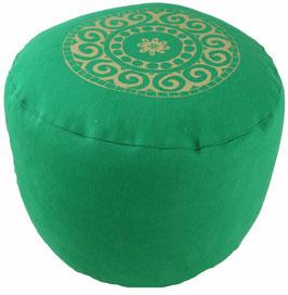 """Designer Meditationskissen Gr.L """"Mandala"""" grasgrün"""
