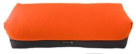 Yoga Bolster eckig orange + anthrazit
