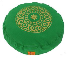 """Designer Meditationskissen Gr.S """"Mandala"""" grasgrün"""