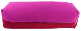 Yoga Bolster eckig  rotviolett + bordeaux
