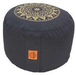 "Designer Meditationskissen Gr.L ""Ur-Mandala Variation"" anthrazit"