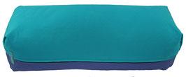 Yoga Bolster eckig  türkis + jeansblau