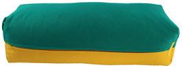 Yoga Bolster eckig seegrün + sonne