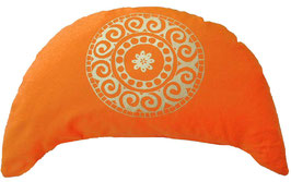 "Designer Halbmond Meditationskissen ""Mandala"" orange"