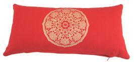 """Lotus Kreis"" rot Designer Yoga-Universal-Genie Kissen"