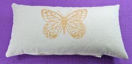 """""""Butterfly"""" naturweiß Designer Yoga-Universal-Genie Kissen"""