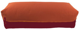 Yoga Bolster eckig terracotta + bordeaux