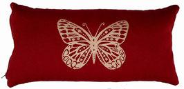 """Butterfly"" bordeaux Designer Yoga-Universal-Genie Kissen"