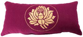 """Lotus"" aubergine Designer Yoga-Universal-Genie Kissen"