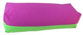Yoga Bolster eckig  rotviolett + giftgrün