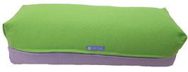 Yoga Bolster eckig apfelgrün + flieder