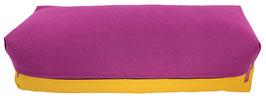 Yoga Bolster eckig  rotviolett + curry