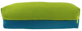 Yoga Bolster eckig kiwi + petrol