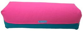 Yoga Bolster eckig pink + petrol