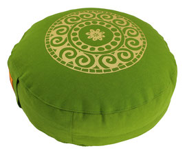 "Designer Meditationskissen Gr.S ""Mandala"" kiwi"