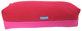 Yoga Bolster eckig kirschrot + pink