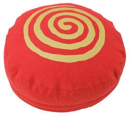 """Designer Meditationskissen Gr.S """"Spirale"""" rot"""