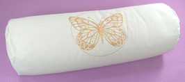 """Butterfly"" naturweiss Designer Yoga Bolster Rolle"