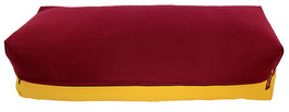 Yoga Bolster eckig bordeaux + curry