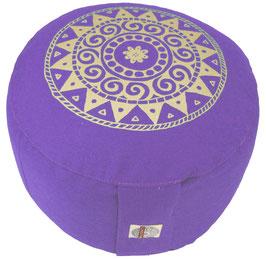 """""""Ur-Mandala Variation"""" lila Designer Meditationskissen Gr.M"""