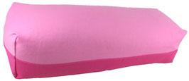 Yoga Bolster eckig rosa + pink