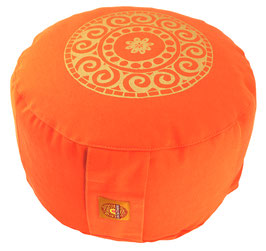 "Designer Meditationskissen Gr.L ""Mandala"" orange"