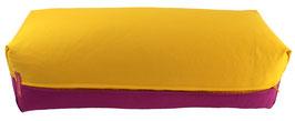 Yoga Bolster eckig curry + rotviolett