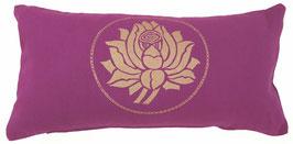 """Lotus"" rotviolett Designer Yoga-Universal-Genie Kissen"
