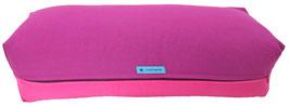 Yoga Bolster eckig  rotviolett + pink