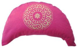 """Designer Halbmond Meditationskissen """"Mandala"""" pink"""