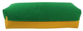 Yoga Bolster eckig grasgrün + curry