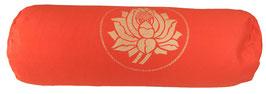 """""""Lotus"""" dunkelorange Designer Yoga Bolster Rolle"""