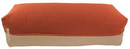 Yoga Bolster eckig terracotta + beige