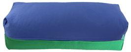 Yoga Bolster eckig  jeansblau + grasgrün