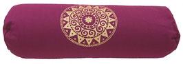 """""""Ur-Mandala Variation"""" aubergine Designer Yoga Bolster Rolle"""