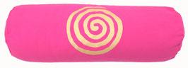 """Pink """"Spirale"""" Designer Yoga Bolster Rolle"""